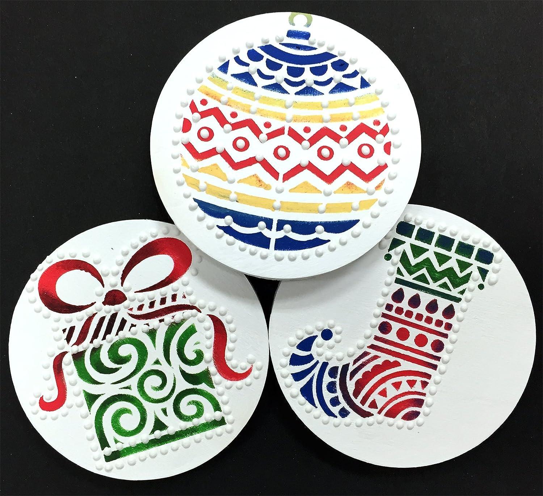 Modern Christmas Cookie Stencil Set by Designer Stencils