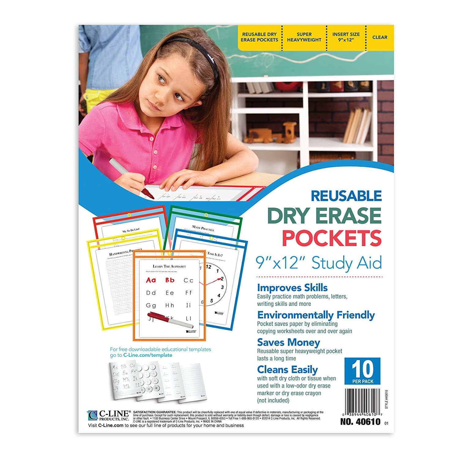 Great 10 Envelope Template Indesign Thin 1st Birthday Invitation Template Square 2 Page Resume Header 2013 Resume Writing Trends Old 2014 Planner Template White2014 Sample Resume Templates Amazon.com : C Line Reusable Dry Erase Pockets, 9 X 12 Inches ..