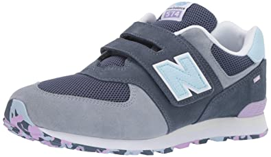 9974c53d8fec8b New Balance Boys  Iconic 574 Hook and Loop Sneaker Vintage Indigo Dark  Violet glo