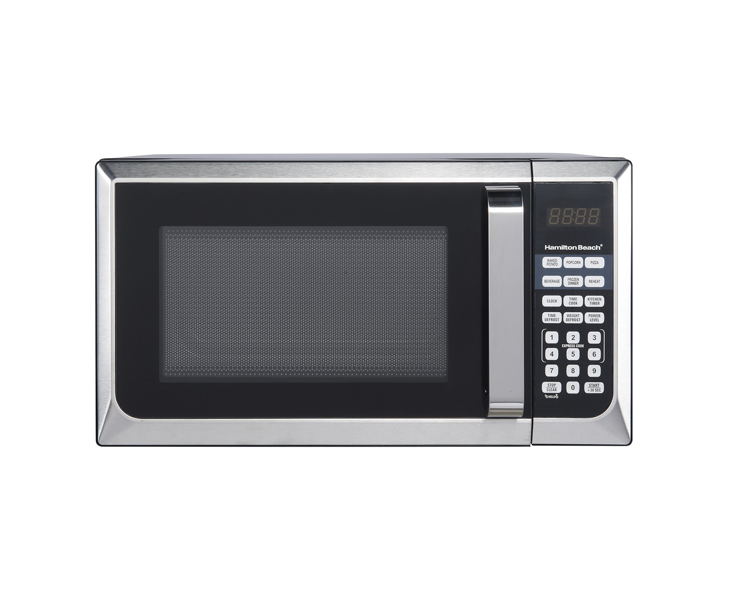 Hamilton Beach 0.9 cu.ft. 900W Microwave Oven, Stainless Steel