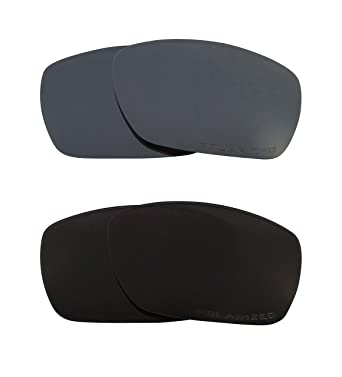 8ca507b965 Image Unavailable. Image not available for. Color  TINFOIL Replacement  Lenses Polarized Black   Black Iridium by SEEK fits OAKLEY