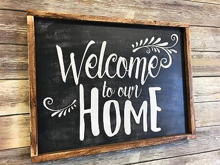 Se556th Cartel de Bienvenida para el hogar con Texto en ...