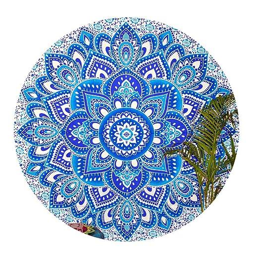 Mandala Round Roundie Beach Indian Flower Tapestry Hippy ...