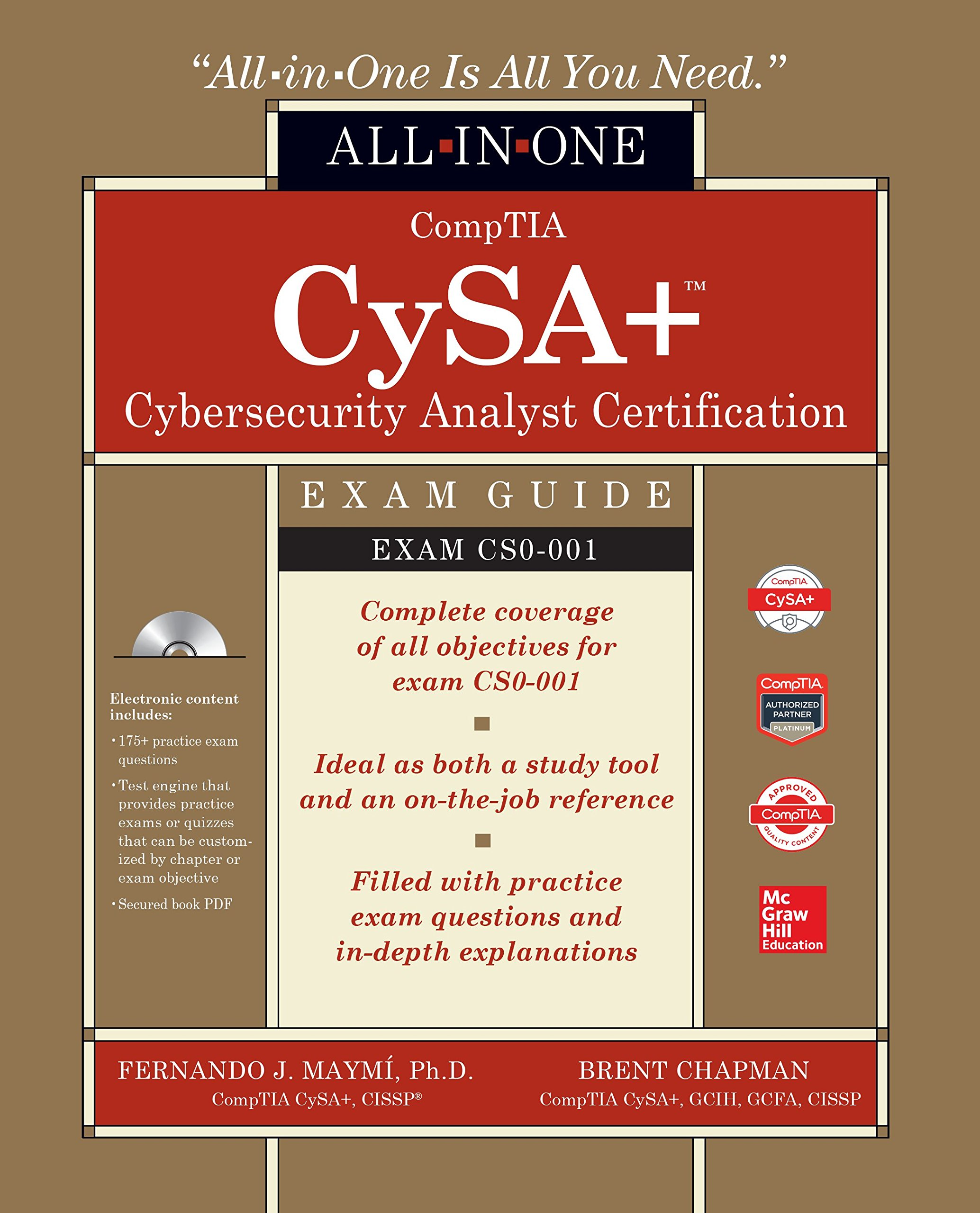 Buy comptia cysa study guide exam cs0 001 book online at low comptia cysa cybersecurity analyst certification all in one exam guide exam cs0 xflitez Choice Image