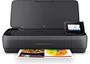 HP OfficeJet 250 All-in-One Portable Printer with Wireless & Mobile Printing (CZ992A), Black