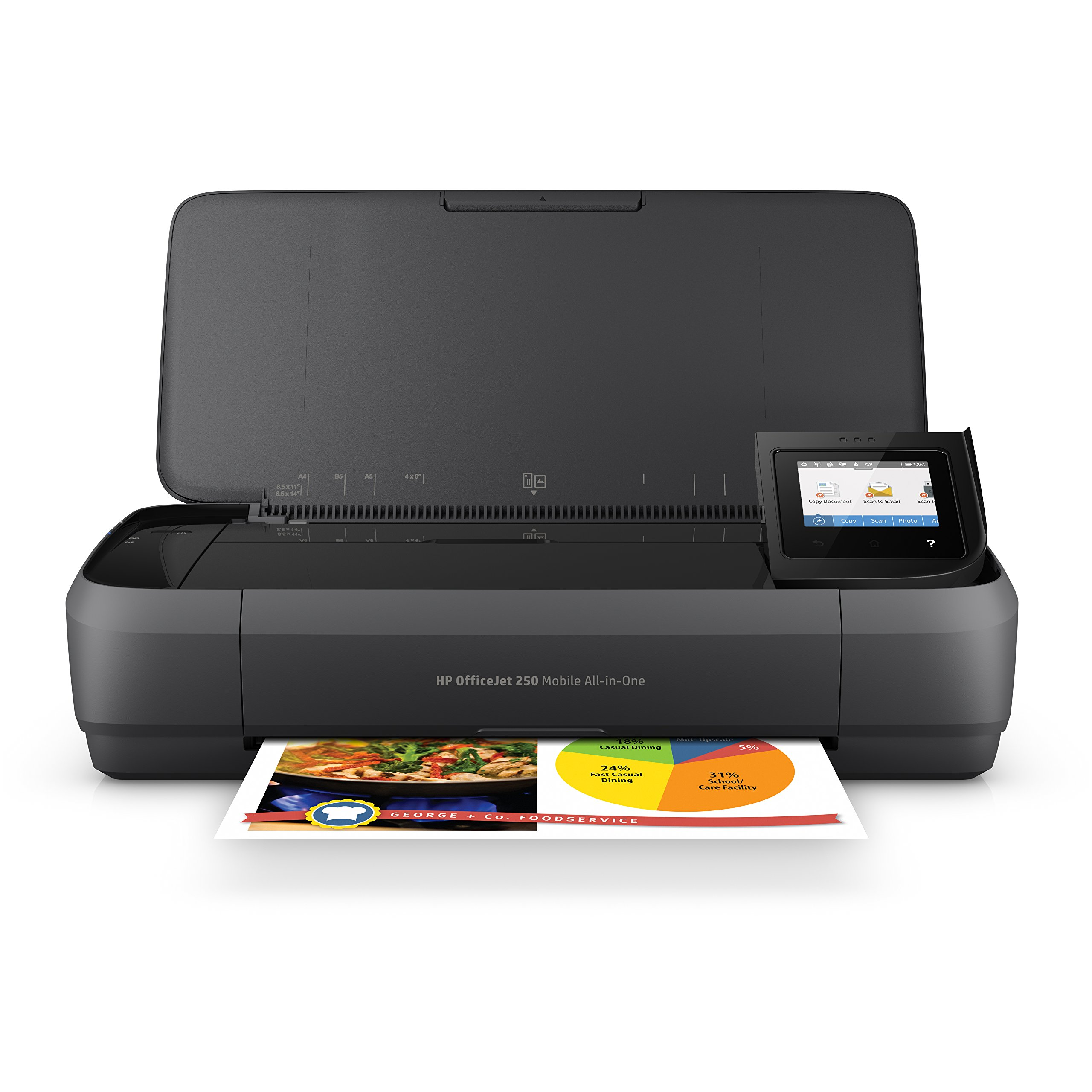 HP OfficeJet 250 All-in-One Portable Printer with Wireless & Mobile Printing (CZ992A) by HP