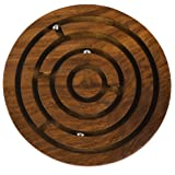 Rusticity Wooden Labyrinth Puzzle Game | Handmade | (5x5 in)