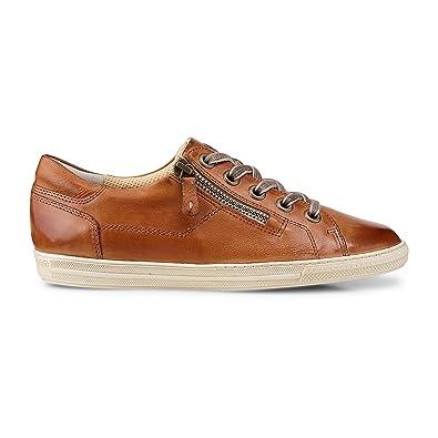 half off ec828 8348b Paul Green 4128-212 Damen Sneaker aus edlem Glattleder Filigrane  Kontrastnähte