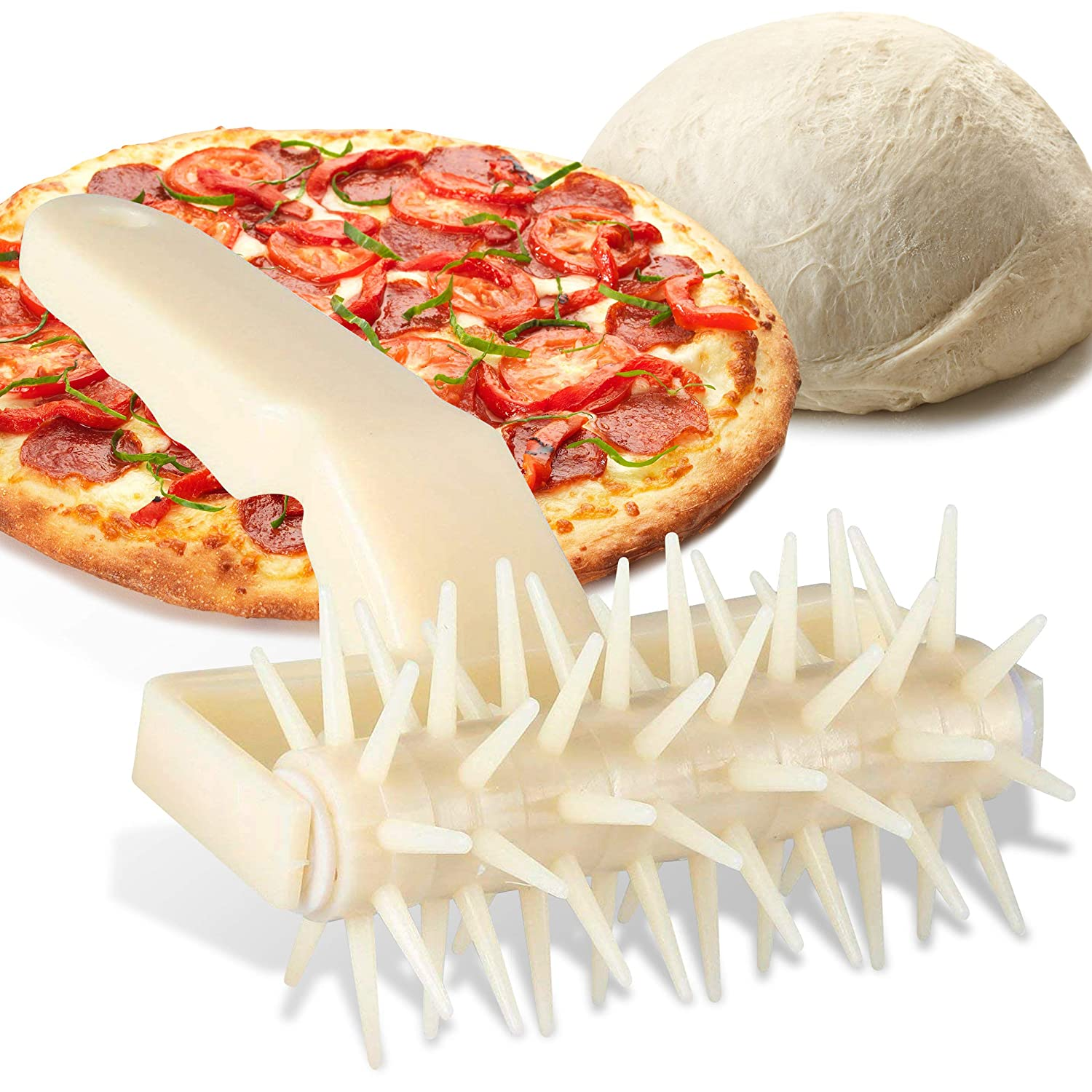 Orblue Dough Docker, Helps Cook Thin Crust Pizza Uniformly & Prevents Dough From Blistering (1-pack)