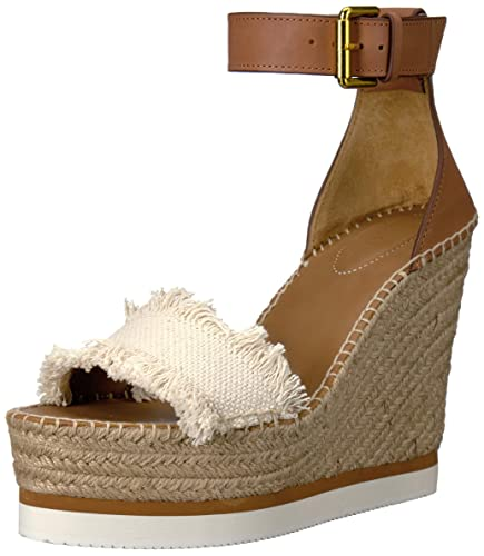 59b48450fb6 See By Chloe Women's Glyn Espadrille Wedge Sandal: Amazon.co.uk ...