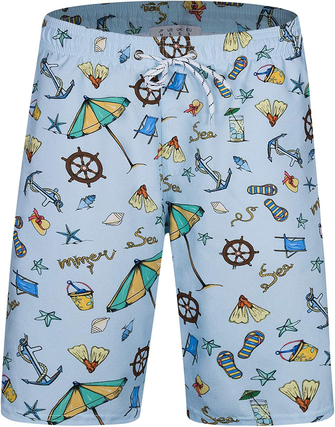 Horizon-t Beach Shorts Starry Sky Mens Fashion Quick Dry Beach Shorts Cool Casual Beach Shorts