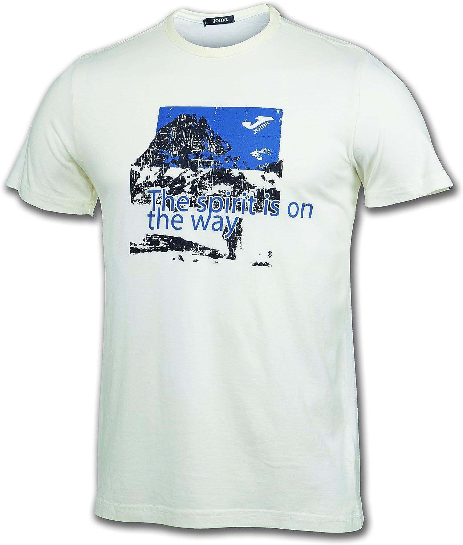 Joma Camiseta Outdoor White S/S Running Camiseta para Hombre ...