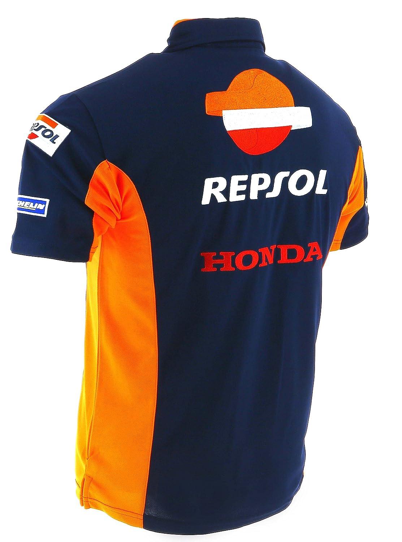 Pedrosa Polo Camisa Oficial 2017 Honda Repsol Moto GP Team azul Marquez