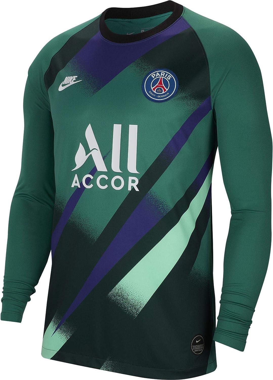 Amazon Com Nike 2019 2020 Psg Home Goalkeeper Football Soccer T Shirt Jersey Green Clothing