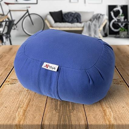 ZAFUKI Cojín para Yoga, cojín Viaje/Yoga niños, Relleno de cáscara de espelta biológica/zafu/Cojín de meditación/loneta 100% algodón - Soft-Touch ...
