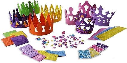 Amazon.com: 4 kits de manualidades de princesa Tiara + 4 ...