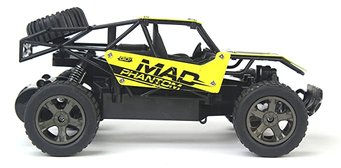 Amazon.com: The King Cheetah Turbo Remote Control Toy Yellow Rally Buggy RC Car 2.4 GHz 1:18 Scale Size w/ Working Suspension, Spring Shock Absorbers: Toys ...