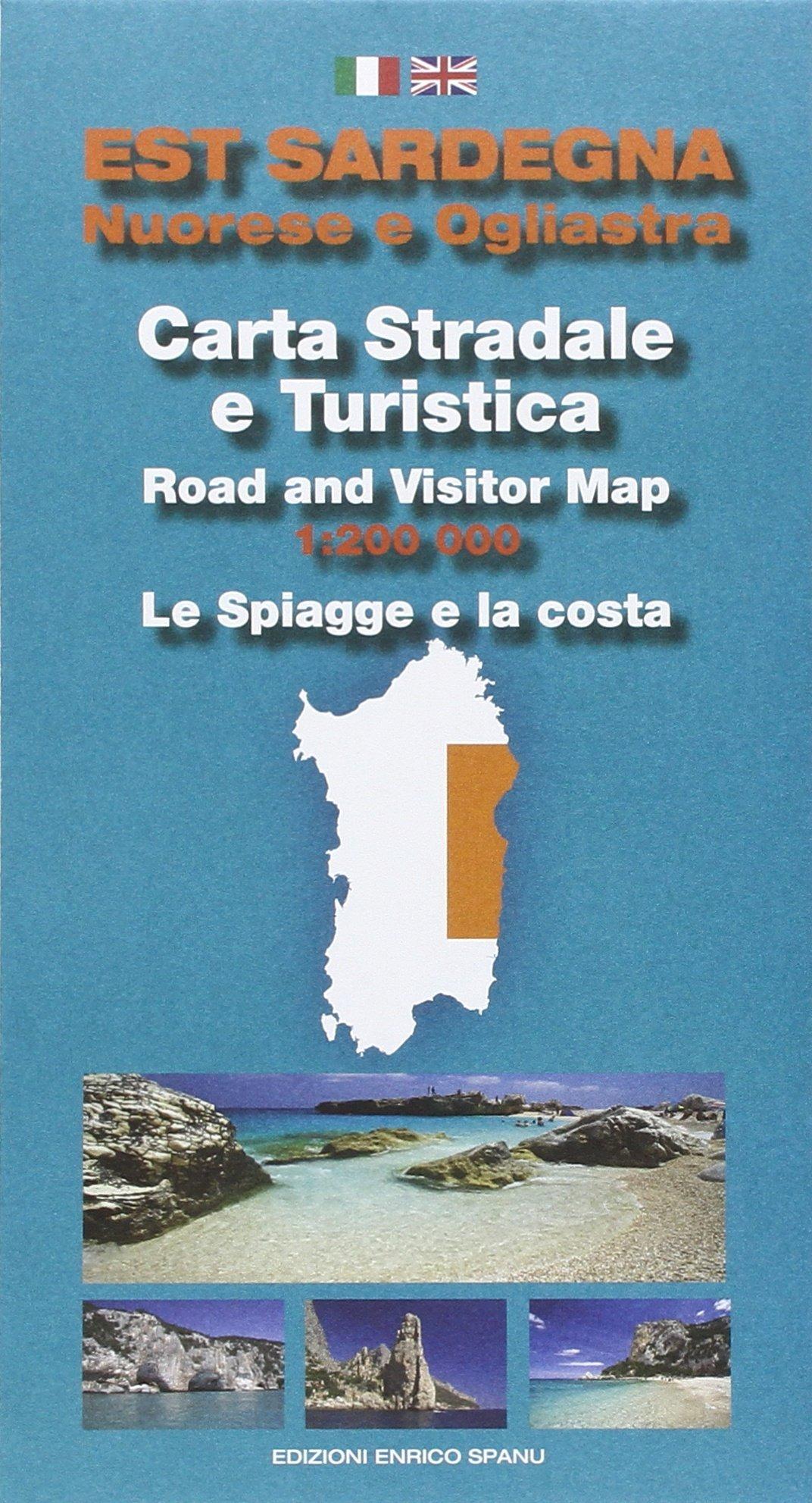 Cartina Sardegna Turistica.Amazon It Est Sardegna Nuorese E Ogliastra Carta Stradale E Turistica Le Spiagge E La Costa 1 200 000 Spanu Enrico Libri