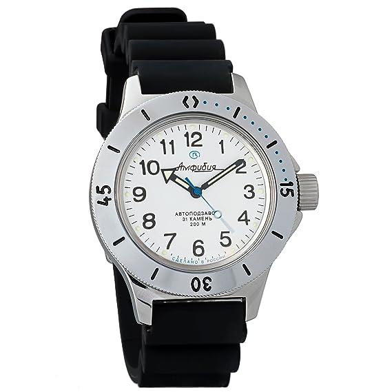 Vostok Amphibia Mens Russian military 200WR Mechanical Self-winding AUTO wrist watch #120813: Amazon.es: Relojes