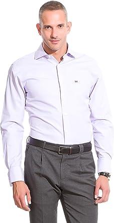 Pedro del Hierro Camisa Non Iron Lisa Lila S: Amazon.es: Ropa y accesorios