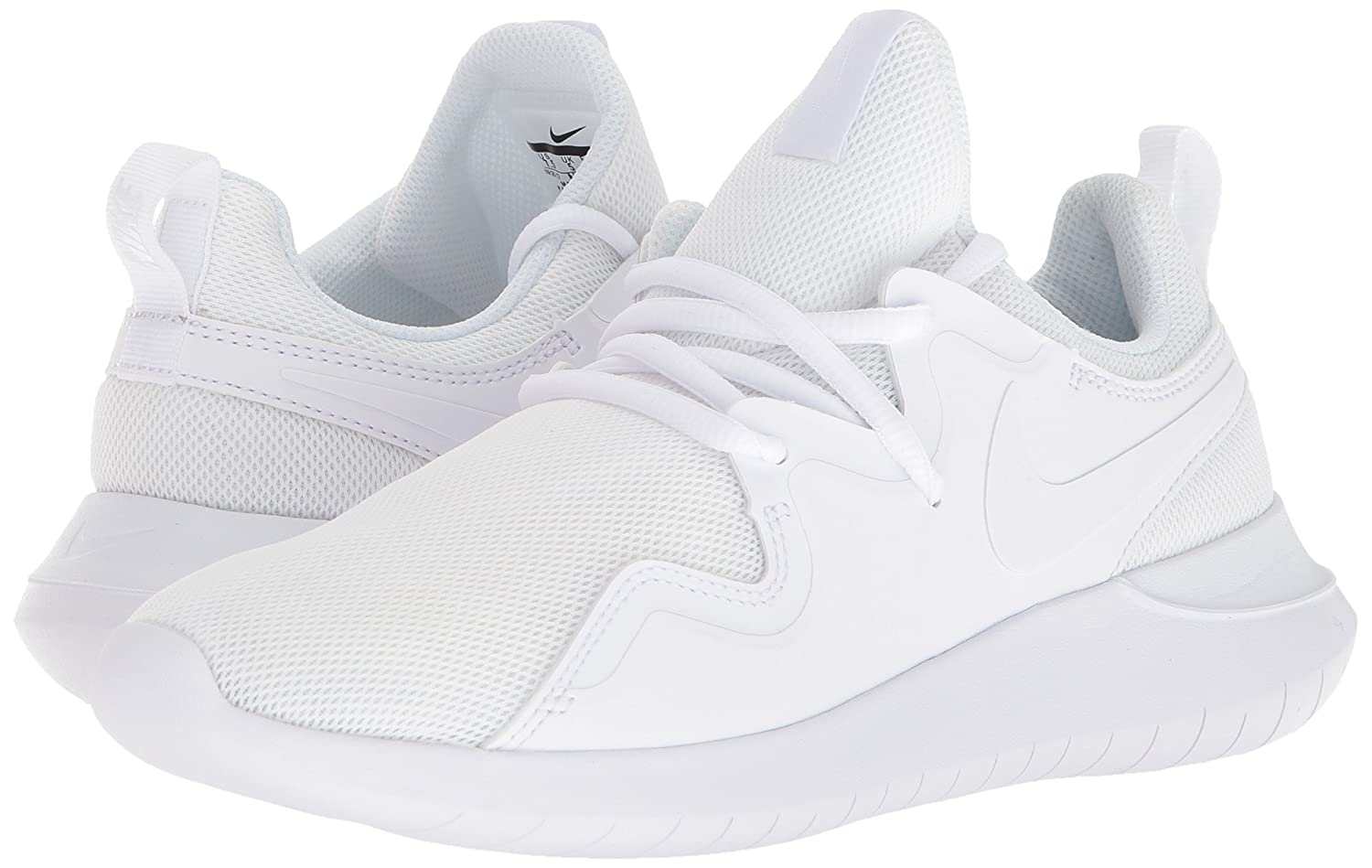 NIKE Women's Tessen Running Shoe B00JWKLVG6 6.5 B(M) US|White/White - Black