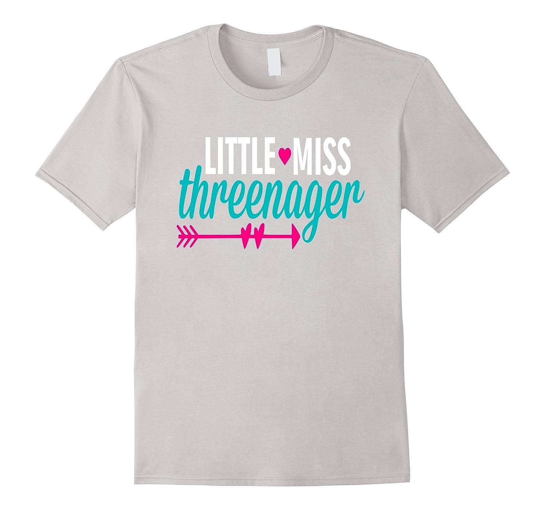 Little Miss Threenager Shirt 3 Three Cute Daughter Toddler-Loveshirt