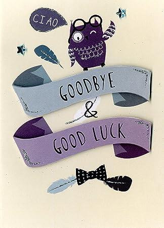 Amazon ciao goodbye amp good luck hand finished greeting card ciao goodbye amp good luck hand finished greeting card just to say leaving m4hsunfo