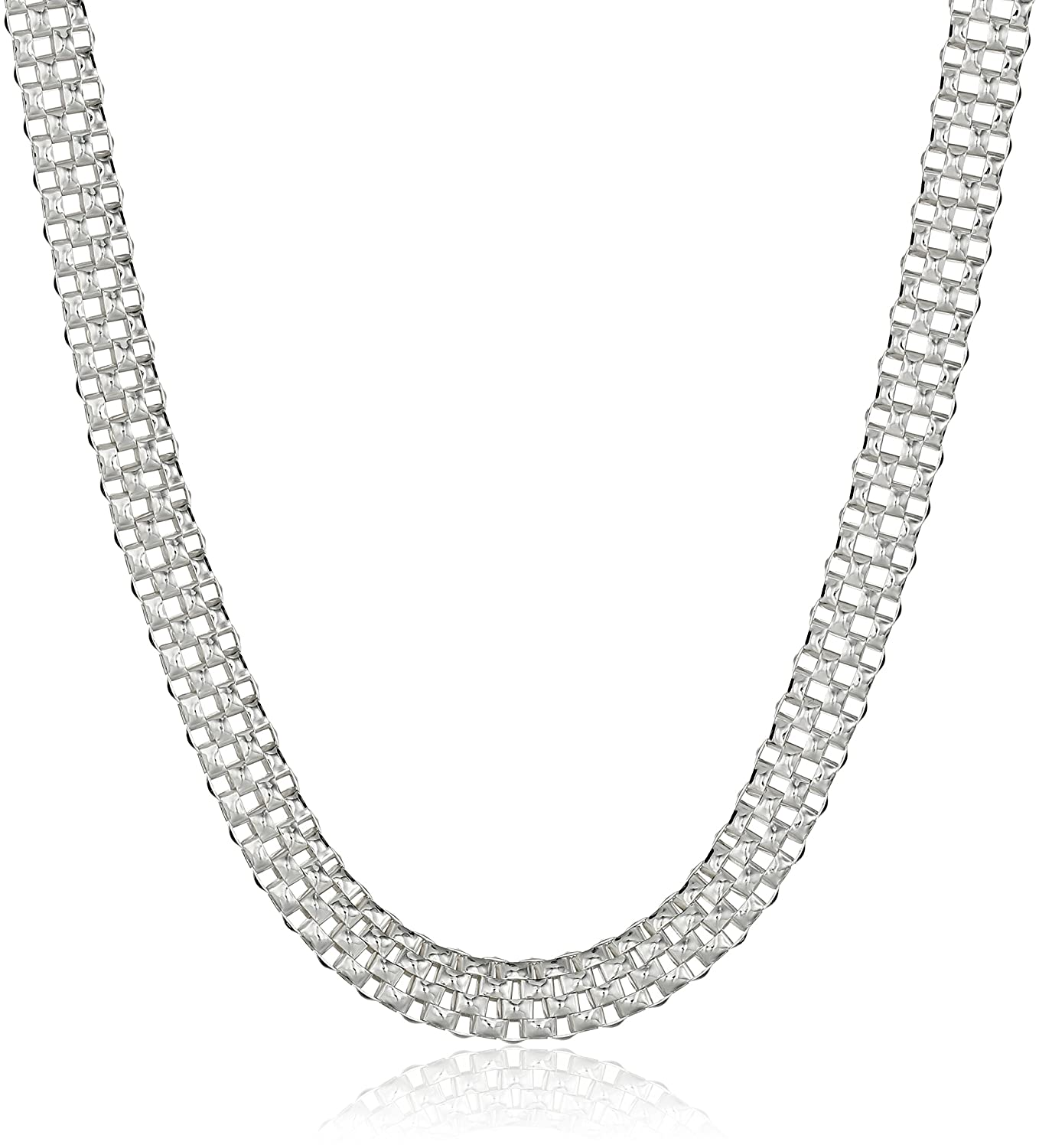 Sterling Silver Mesh Chain Necklace