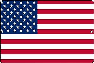 Rogue River Tactical USA American Flag Metal Tin Sign Wall Decor Man Cave Bar US United States Old Glory