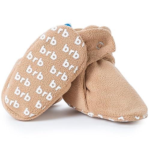 0b118153c BirdRock Baby Botitas de paño Grueso y Suave de bebé de BirdRock orgánicos  algodón Forro y