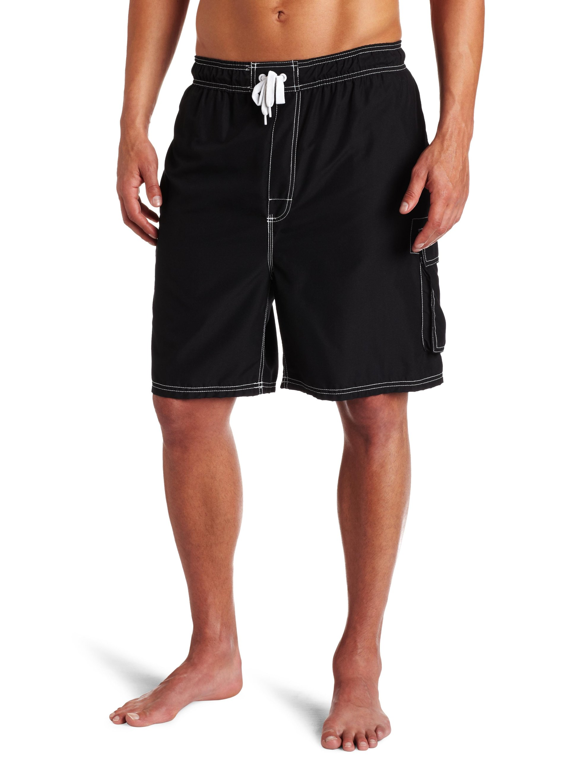 Kanu Surf Mens Barracuda Extended Size Trunk, Black, 3X by Kanu Surf