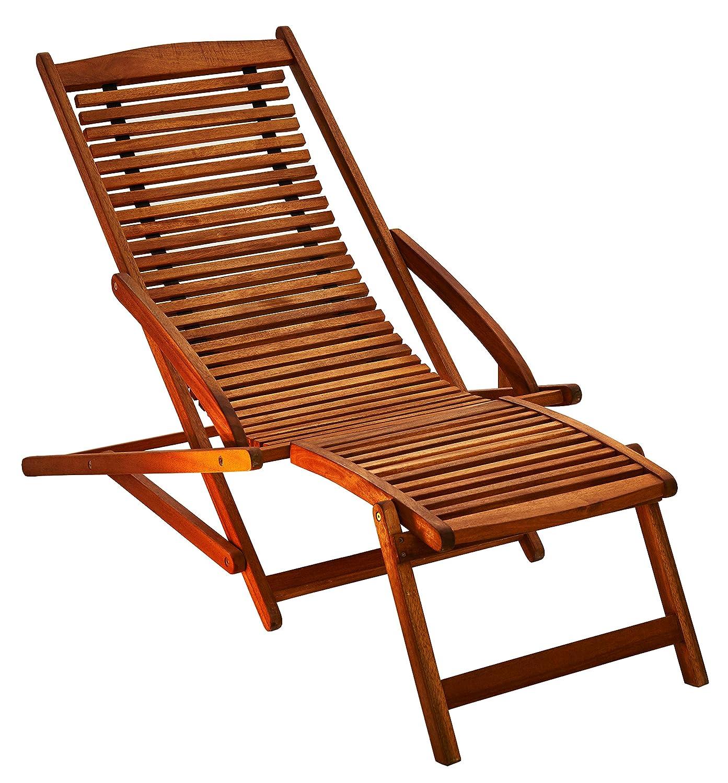 SAM® Gartenliege Fuki aus Akazie, Sonnenliege aus Holz, FSC® 100% zertifizierter Liegestuhl, Deckchair geölt, massives Gartenmöbel
