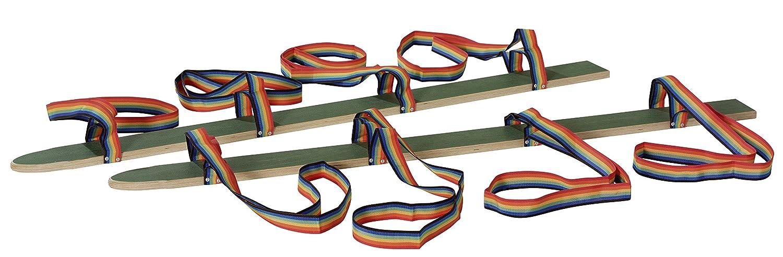 Pedalo® Sommerski Hand-Fußschlaufe 160 cm - 4 Spieler - Koordination - Rasenski - Wiesenski - Kindergarten - Teamspiel