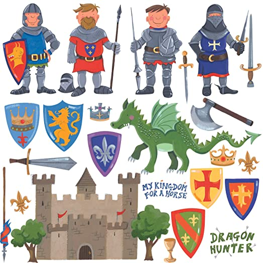 RoomMates Repositionable Childrens Wall Stickers   Knights And Dragon Part 43