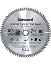 Concord Blades WCB0725T080HP 7-1/4-Inch 80 Teeth TCT General Purpose Hard and Soft Wood Saw Blade