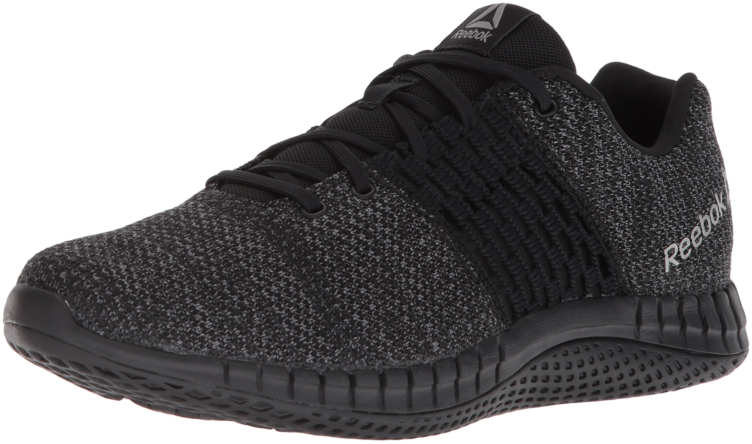 Reebok Men's Print Run Ultraknit Shoe, Black/Coal/Asteroid dust, 10 M US by Reebok