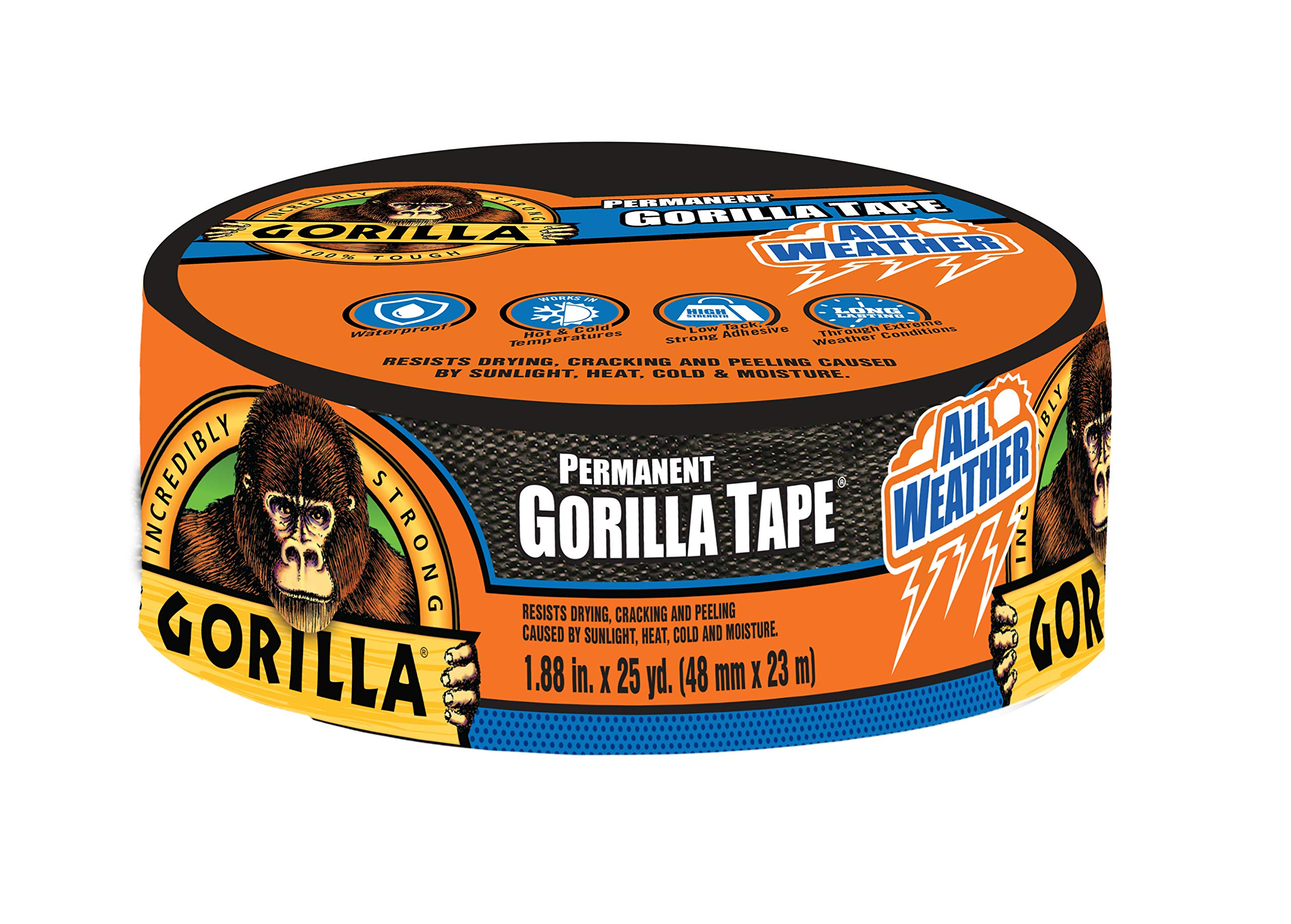 Gorilla 6009002 Weather Tape, Black