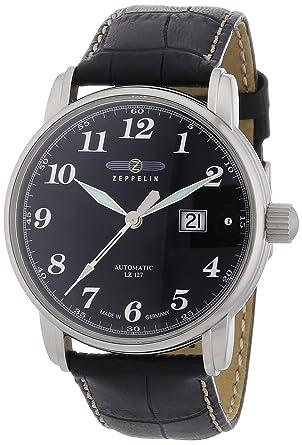 Zeppelin LZ 127 Graf Zeppelin 7652-2 - Reloj de caballero automático, correa de piel color negro: Amazon.es: Relojes