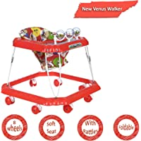Dash Venus Baby Walker with Cushioned Seat and Rattles (Red)