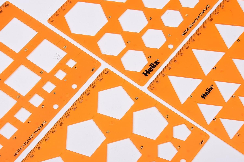 Helix Shape Stencil Templates 4 Pack