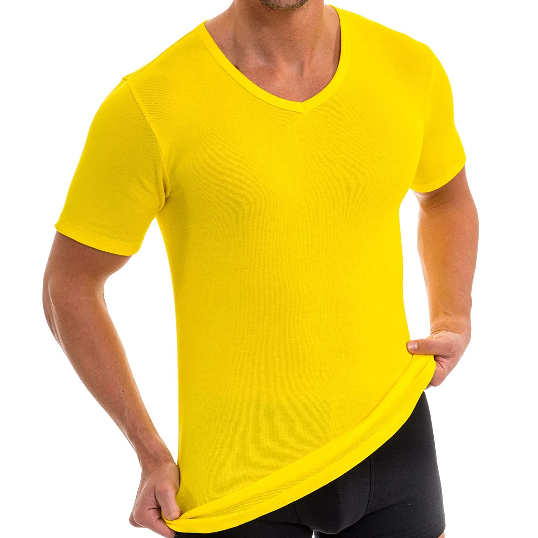 HERMKO 4880 Herren kurzarm Shirt mit V-Ausschnitt, Business Unterhemd aus  100 % Baumwolle 9017572c51