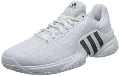 wholesale dealer 24fa1 af1ff adidas Performance Mens Barricade 2016 Tennis Court Shoes Sneakers - White  - 8.5