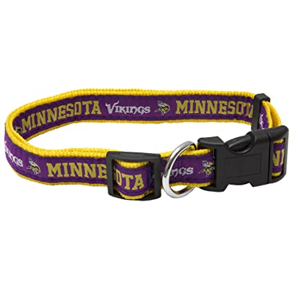 f66a3b0d7 Amazon.com : Pets First NFL Minnesota Vikings Pet Collar, Large ...