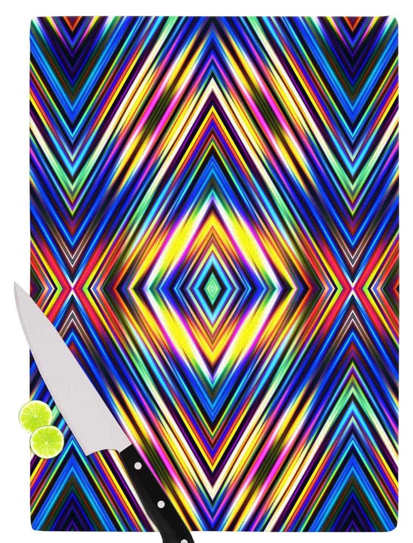 11.5 x 15.75 KESS InHouse Dawid Roc Colors Modern Tribal color Tribal Cutting Board Multicolor