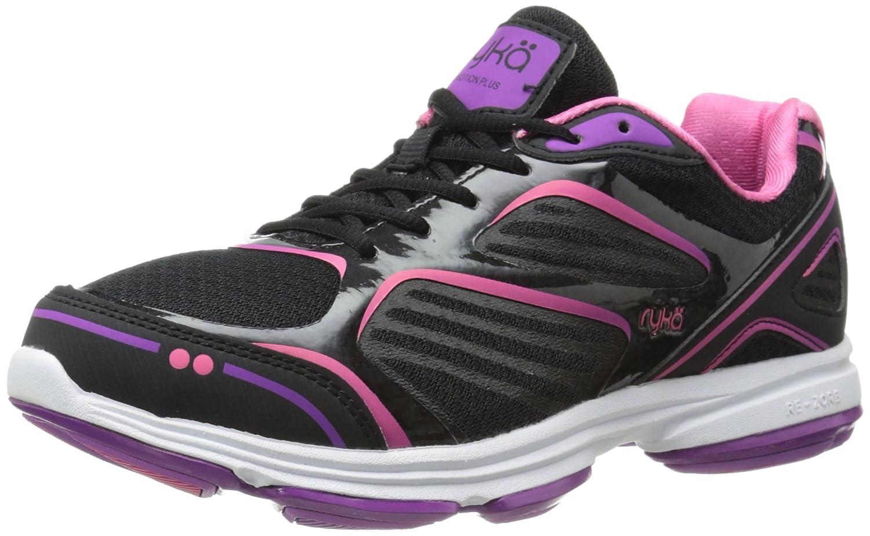 Ryka Women's Devotion Plus Walking Shoe B00MF049F0 9 W US|Black/Cool Mist Grey/Bright Violet/Hot Pink