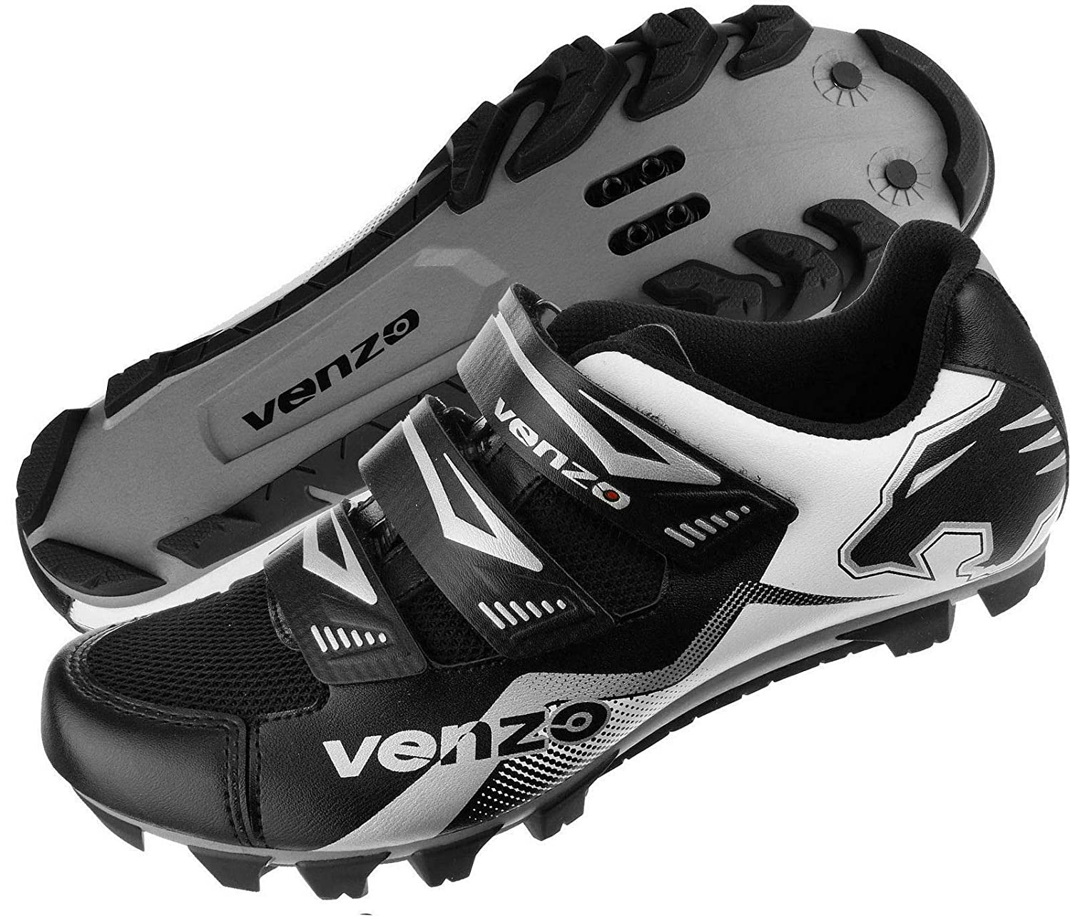 Venzo Mountain Bike Bicycle Cycling Compatible with Shimano SPD Shoes Multi-Use Pedals