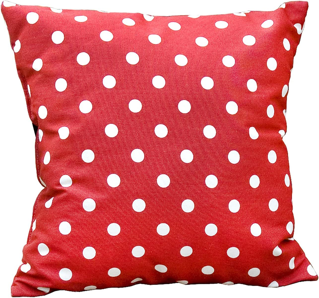 Greendale Home Fashions Outdoor Accent Pillows, Red Polka, Set of 2