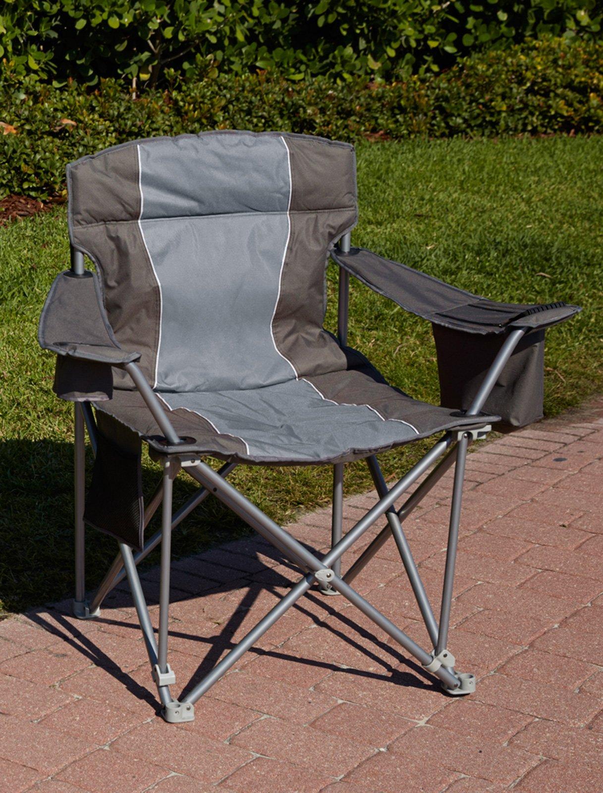 1,000-lb. Capacity Heavy-Duty Portable Chair (Charcoal)