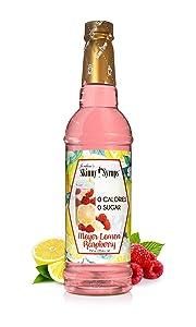 Jordan's Skinny Syrups Meyer Lemon Raspberry, Sugar Free Flavoring Syrup, 25.4 Ounce Bottle