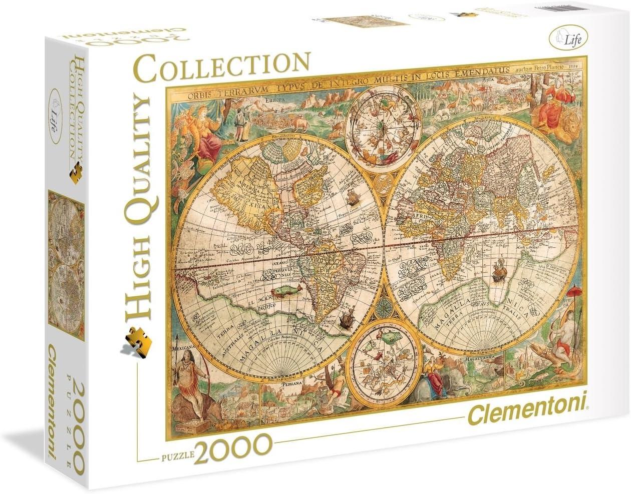 Clementoni - Puzzle 2000 Piezas Mapa Antiguo (32557)